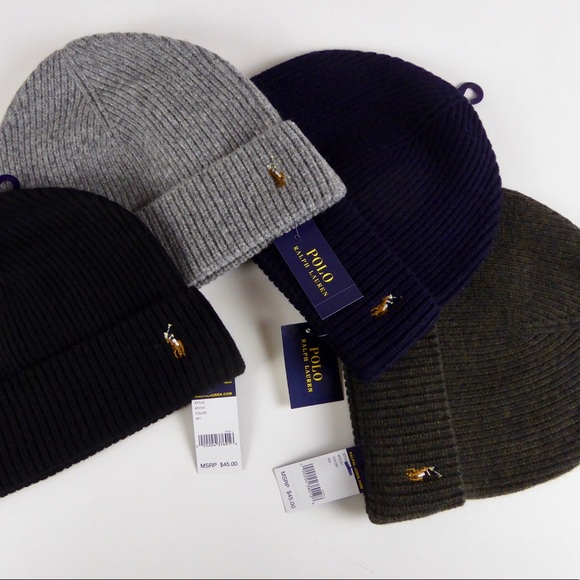 Polo Ralph Lauren Merino Wool Watch Cap Beanie Set 4e62731ecd6